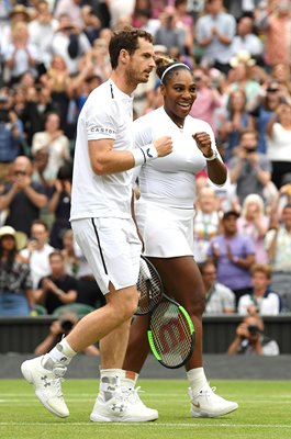Serena Williams & Andy Murray Mixed Doubles R2 Wimbledon 2019