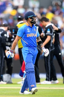 Virat Kohli Indian Captain dismissed v New Zealand Semi-Final 2019