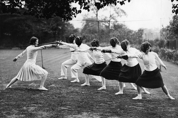 Miss Eleanor Macdonald Fencing Class Croydon 1934