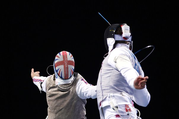Ed Jefferies GB v Luca Simoncelli Italy USA Fencing London 2012