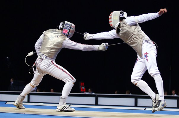Richard Kruse GB v Gerek Meinhardt USA Fencing London 2012
