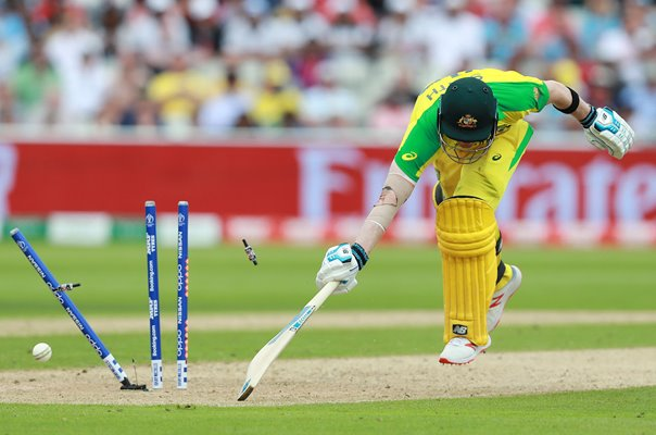 Steve Smith Australia run out v England World Cup 2019 Semi-Final