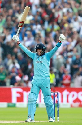 Joe Root England celebrates v Australia Edgbaston World Cup 2019