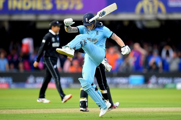 Ben Stokes England reacts v New Zealand World Cup Final 2019