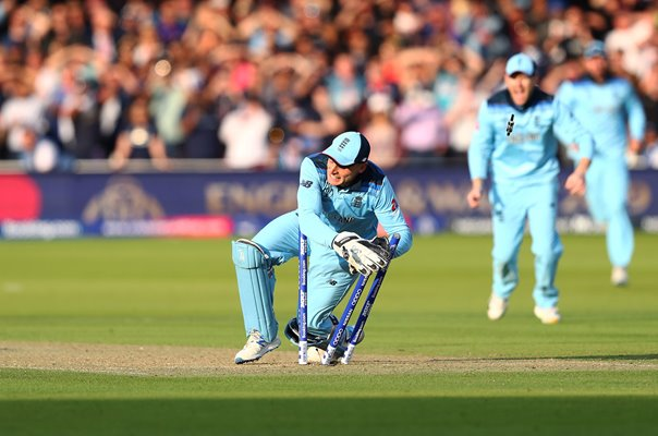 Jos Buttler England run out to win World Cup Lord's 2019