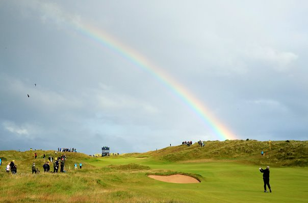 Darren Clarke Northern Ireland Rainbow 7th Hole Royal Portrush 2019