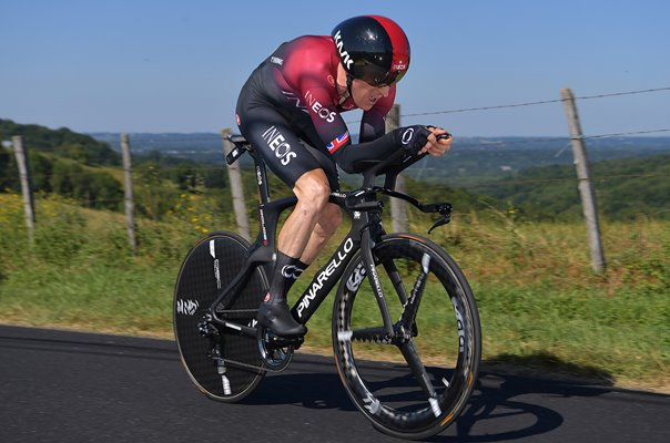 Geraint Thomas Team INEOS Time Trial Pau Tour de France 2019