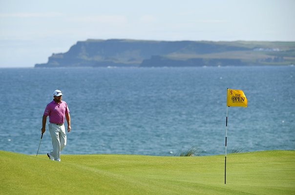 Graeme McDowell Northern Ireland 5th Green Royal Portrush Open 2019