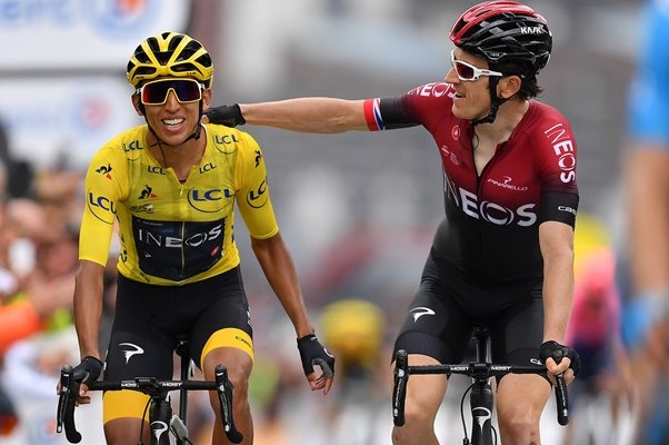 Egan Bernal & Geraint Thomas Ineos Stage 20 Tour de France 2019