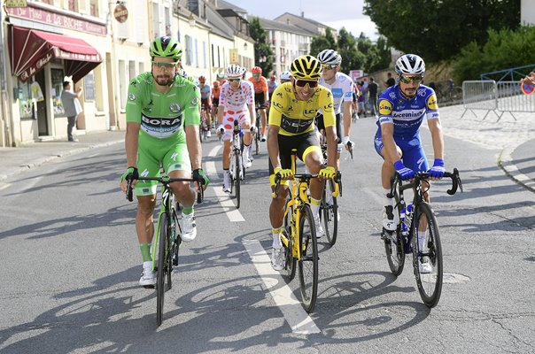 Peter Sagan, Egan Bernal & Julian Alaphilippe Stage 21 Tour 2019