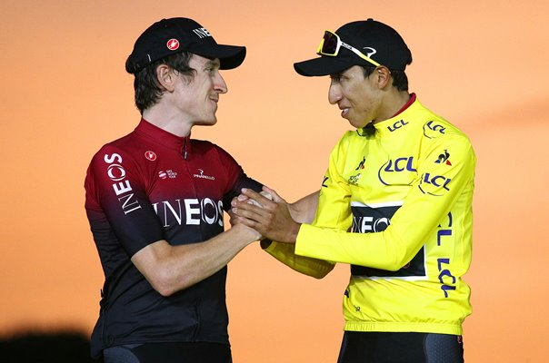 Egan Bernal & Geraint Thomas Paris Podium Tour 2019