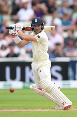 Rory Burns England batting v Australia Edgbaston 2019