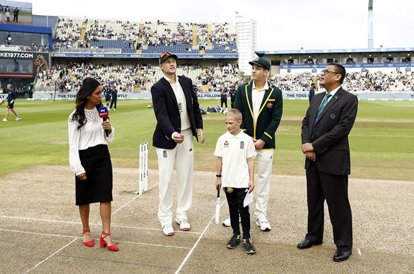 Joe Root England v Tim Paine Australia Coin Toss 1st Ashes Test 2019