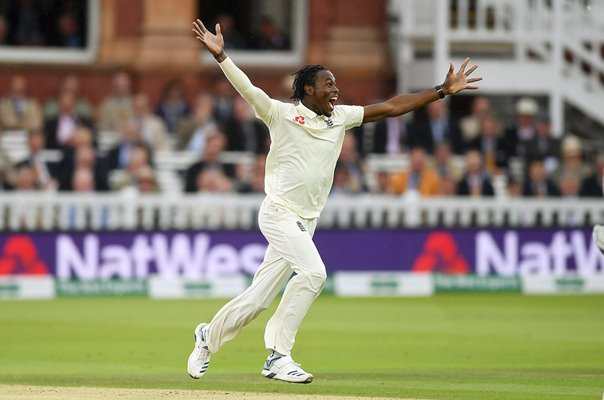 Jofra Archer England Wicket Lord's Ashes Test 2019