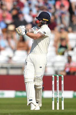 Ben Stokes England Struck on Helmet by Josh Hazlewood Leeds Ashes 2019