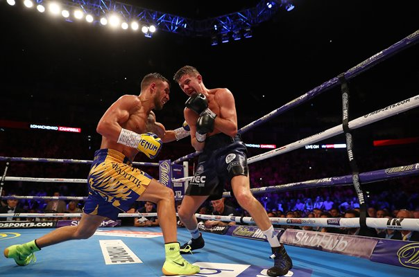 Vasiliy Lomachenko punches Luke Campbell World Title Fight London 2019