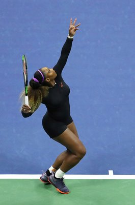 Serena Williams United States serves US Open New York 2019