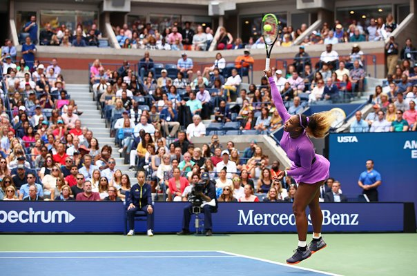 Serena Williams United States serves 2019 US Open Final