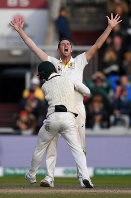 Josh Hazlewood Australia winning wicket Old Trafford 2019