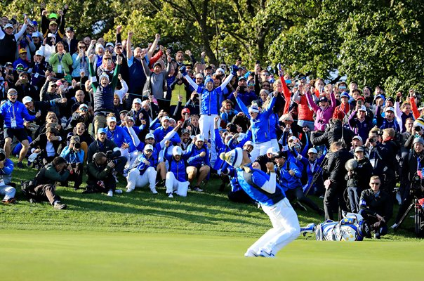 Suzann Pettersen Europe Winning Point Solheim Cup 2019