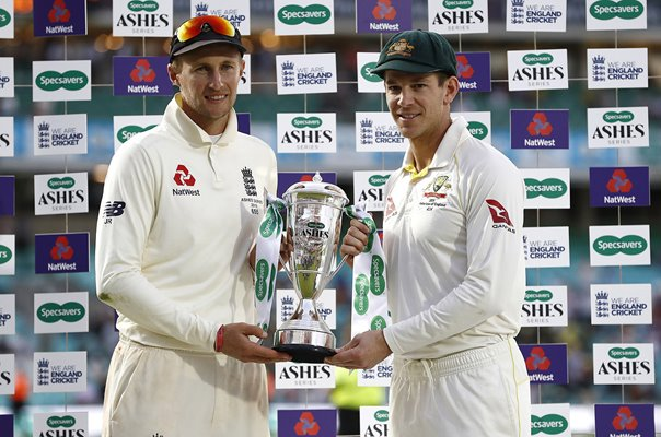 Ashes captains Joe Root England & Tim Paine Australia Oval 2019