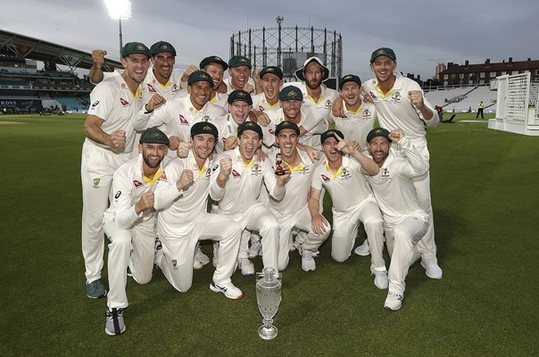 Australia celebrate retaining Ashes Oval 2019