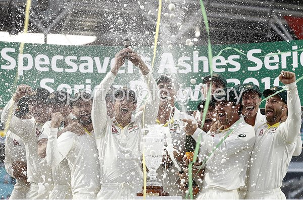 Tim Paine Australia lifts Ashes Urn Oval 2019