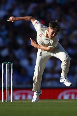 Sam Curran England bowls v Australia Oval Ashes 2019