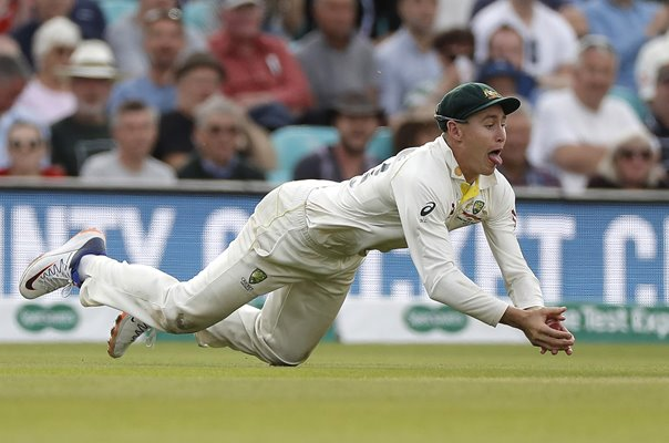 Marnus Labuschagne Australia catch v England Oval Ashes 2019