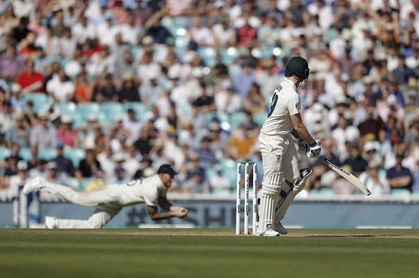 Ben Stokes catches Steve Smith Australia Oval Ashes 2019