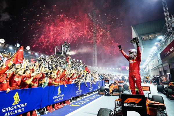 Sebastian Vettel Singapore Grand Prix Winner 2019