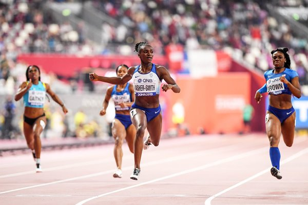 Dina Asher-Smith Great Britain wins 200m Final World Athletics Doha 2019