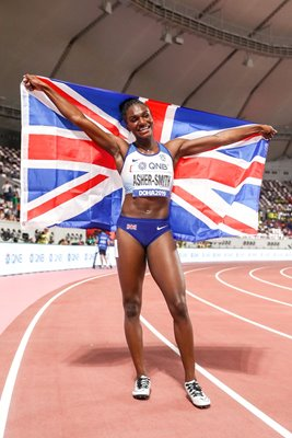 Dina Asher-Smith Great Britain World Champion Doha 2019