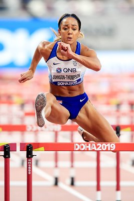 Katarina Johnson-Thompson Heptathlon Hurdles Doha 2019
