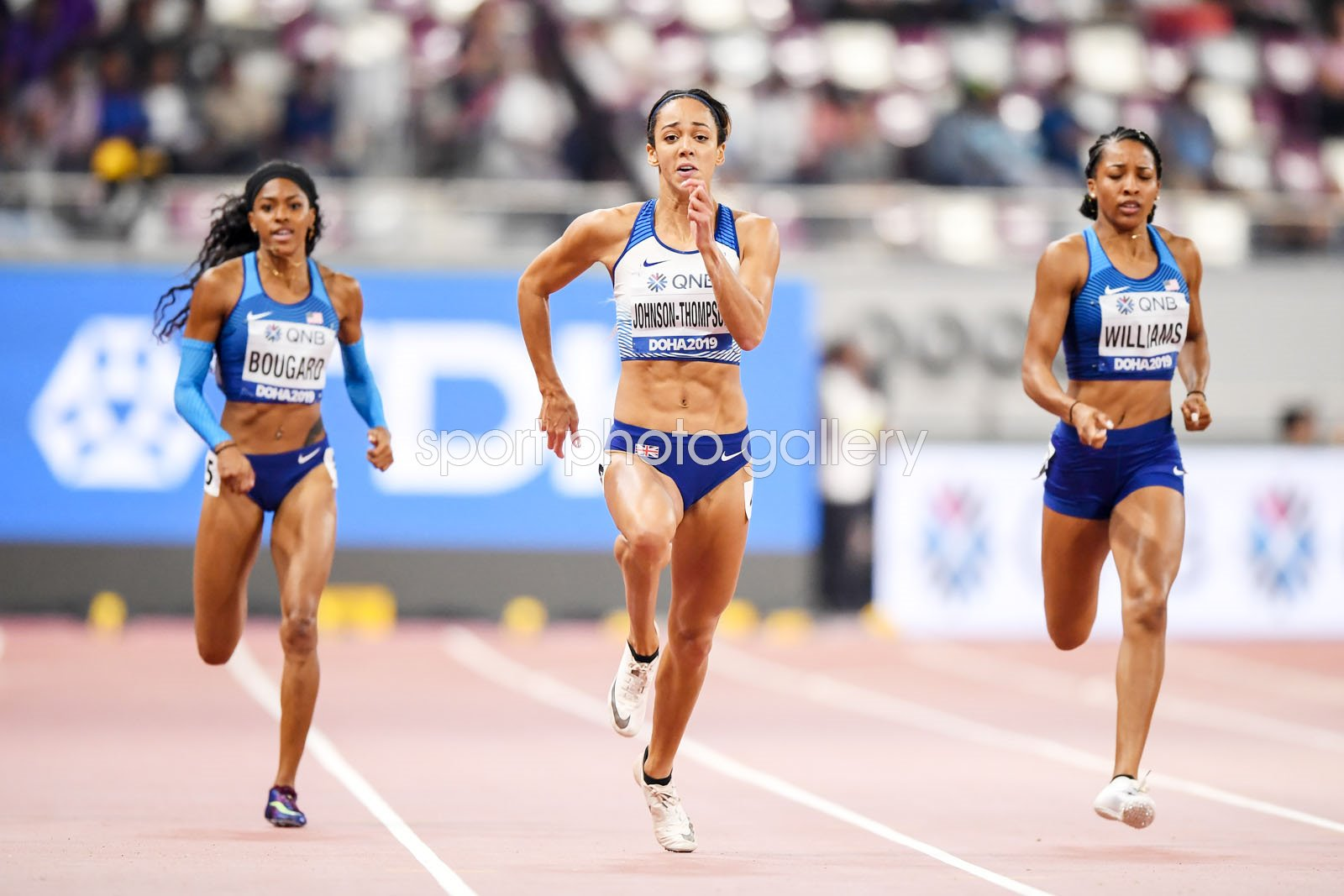 Katarina Johnson-Thompson Great Britain Heptathlon 200m Worlds Doha 2019