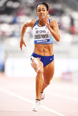 Katarina Johnson-Thompson Great Britain Heptathlon 200m Doha 2019