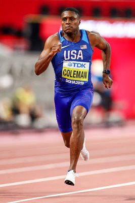 Christian Coleman United States 100m World Athletics Doha 2019