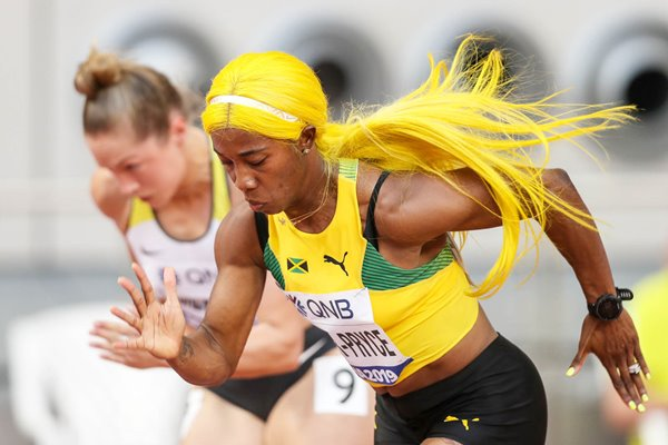 Shelly-Ann Fraser-Pryce Jamaica World Athletics Championships Doha 2019