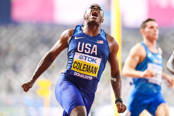 Christian Coleman USA 100m World Champion Doha 2019