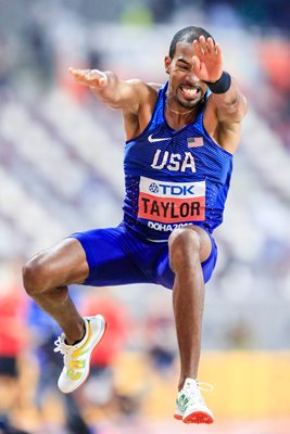 Christian Taylor Triple Jump Action World Athletics Doha 2019