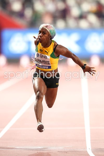 Shelly-Ann Fraser-Pryce Jamaica 100m Gold World Athletics 2019