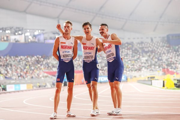 Brothers Filip, Jakob & Henrik Ingebrigtsen 5000m Final World Athletics 2019
