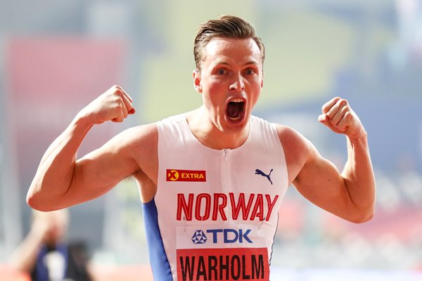 Karsten Warholm Norway 400m Hurdles Gold World Athletics Doha 2019