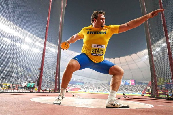 Daniel Stahl Sweden Discus Gold World Athletics Doha 2019