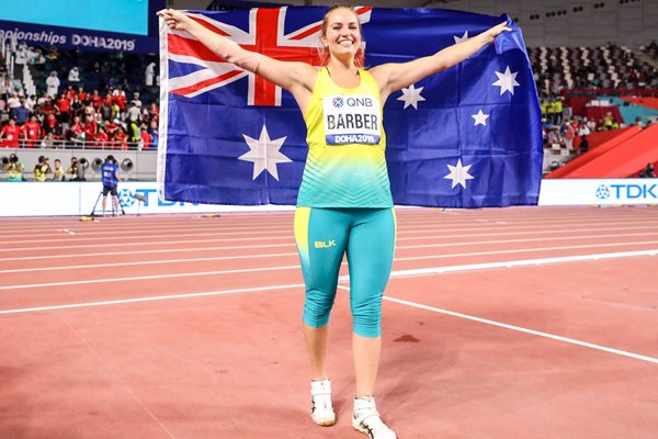 Kelsey-Lee Barber Australia Javelin World Champion Doha 2019