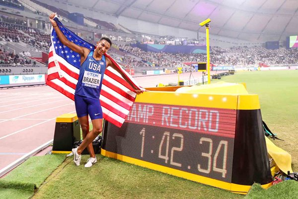 Donavan Brazier United States 800m World Champion Doha 2019
