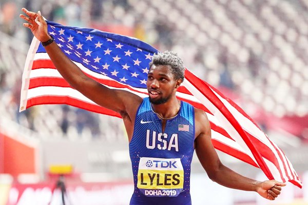 Noah Lyles United States 200m World Athletics Champion Doha 2019