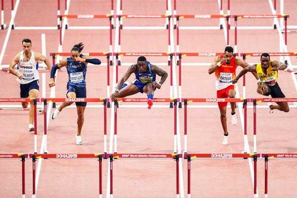 Grant Holloway USA 110m Hurdles World Athletics Doha 2019