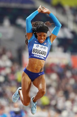 Erica Bougard USA Heptathlon Long Jump World Athletics 2019