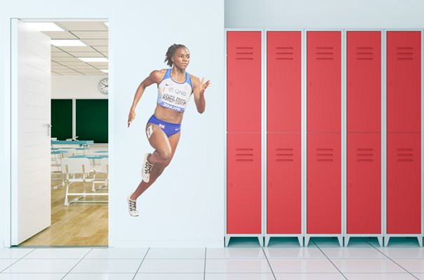 Dina Asher-Smith Great Britain 200m World Athletics Doha 2019 Wall Sticker